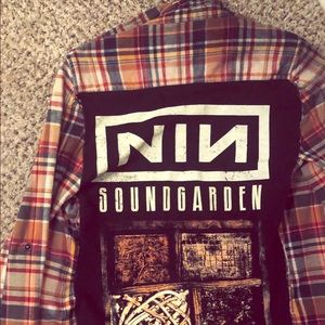Tops - Handmade Nine Inch Nails flannel